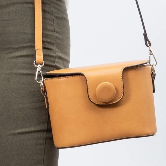 Melie Bianco Handbags - Adelynn Mustard Crossbody